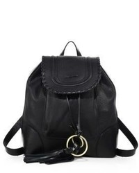 See by Chloe Polly Leather Drawstring Backpack