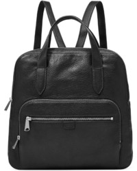 Fossil Riley Leather Backpack