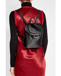 Diane von Furstenberg Satin Backpack With Leather