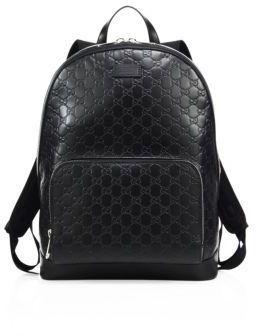 ... Gucci Signature Embossed Leather Backpack ... e3666401065e8