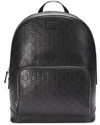 Signature leather backpack black medium 651172