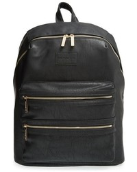 The Honest Company Infant Girls City Faux Leather Diaper Backpack Black