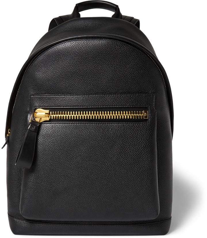 ... Black Leather Backpacks Tom Ford Tom Ford Buckley Full-Grain Leather  Backpack 92d61ca5640