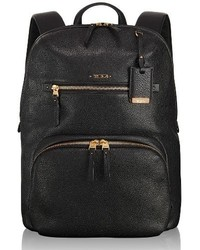 Tumi Voyageur Halle Leather Backpack Black