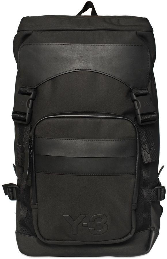 ... Black Leather Backpacks Y-3 Ultratech Backpack a133e7858cfea