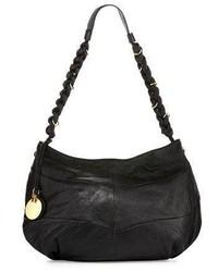 See by Chloe Braided Leather Hobo Bag Black