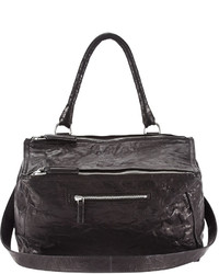 Givenchy Pandora Medium Leather Satchel Bag Black