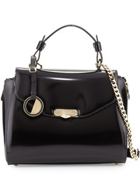 Missoni Patent Top Handle Satchel Bag Nero