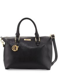 Missoni Saffiano Leather Medium Satchel Bag Nero
