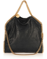 Stella McCartney The Falabella Medium Faux Brushed Leather Shoulder Bag Black