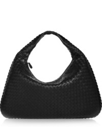 Bottega Veneta Veneta Large Intrecciato Leather Shoulder Bag Black