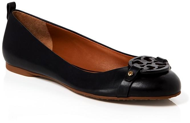 24584d55fba7 ... Leather Ballerina Shoes Tory Burch Ballet Flats Mini Miller ...