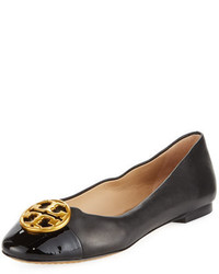 Tory Burch Chelsea Soft Leather Cap Toe Ballet Flat
