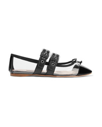 Miu Miu D Pvc And Leather Ballet Flats