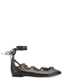 Isabel Marant Lace Up Ballerina Shoes