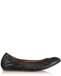 Lanvin Leather Ballet Flats Black