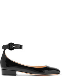Gianvito Rossi Patent Leather Ballet Flats Black