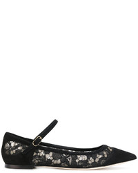 Dolce & Gabbana Pointed Ballerina Shoes