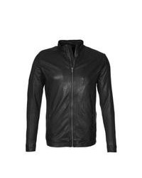 Black Leather Barn Jacket