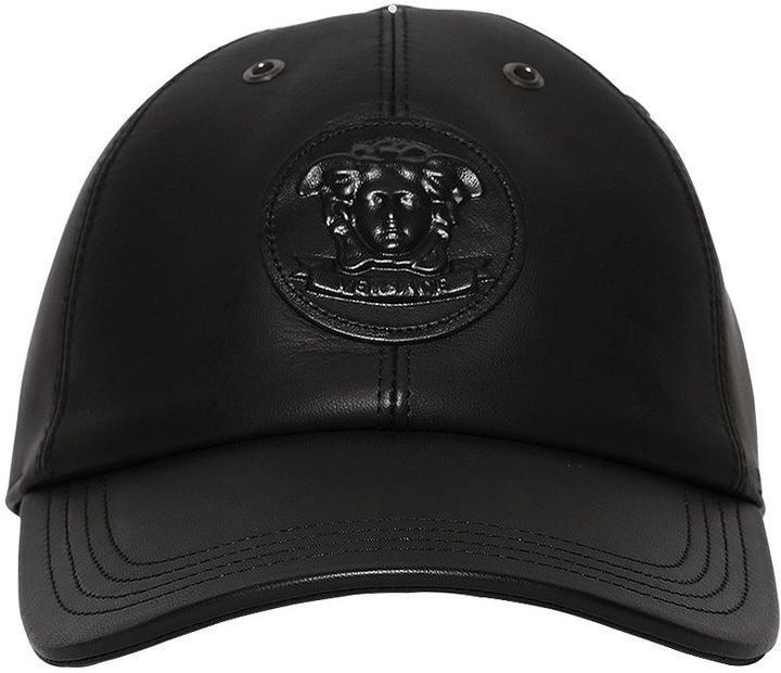 288fd2c1 Versace 3d Medusa Leather Baseball Hat, $475 | LUISAVIAROMA ...