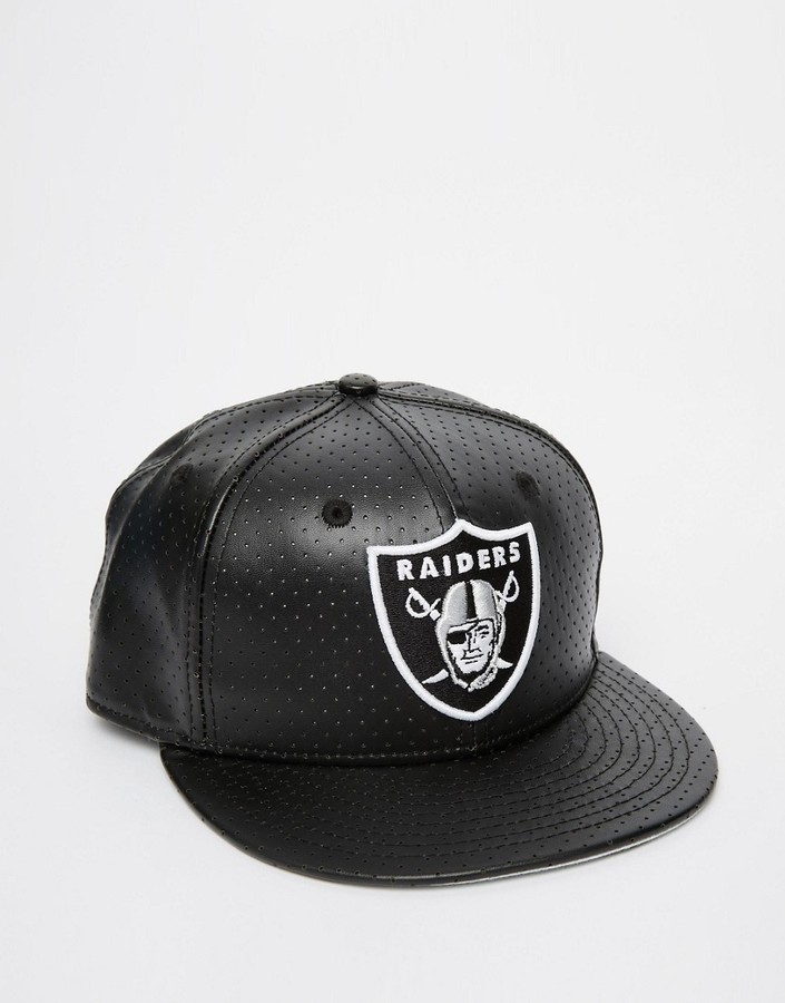sports shoes e1c55 b66a2 ... official hot baseball caps new era 59fifty leather oakland raiders  fitted cap dfe62 263cb 4b554 d8b55