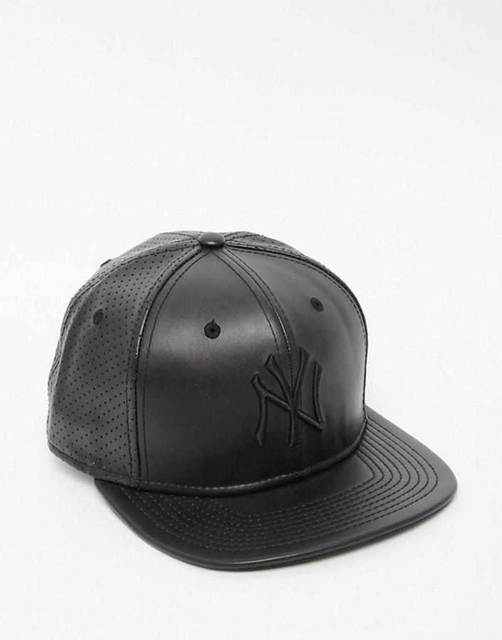 ... New Era 9fifty Ny Yankees Faux Leather Snapback Cap ... a457e63e4de