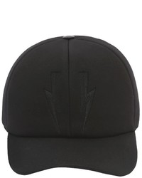 Neil Barrett Bolts Baseball Hat W Leather Detail