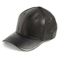Gents Leather Baseball Cap