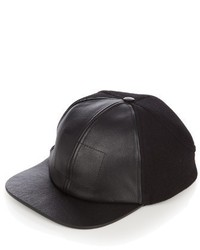 d6d34ba9a57 Men s Black Leather Baseball Caps by Balenciaga