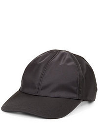 a5956b6b Men's Black Leather Baseball Caps by Prada | Men's Fashion ...