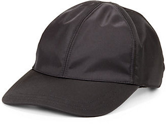 cba7aa57 ... Black Leather Baseball Caps Prada Nappa Leather Baseball Cap