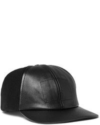 67d755e8c01 Balenciaga Leather Visor Wool Blend Baseball Cap Out of stock · Balenciaga  Panelled Wool Blend Felt And Leather Baseball Cap