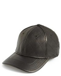Gents Quilted Leather Baseball Cap