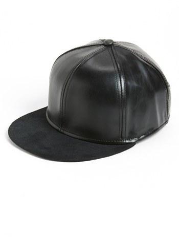 9b9149e23 $28, Topman Snapback Faux Leather Cap