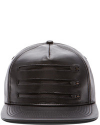 Stampd 3 Zipper Leather Hat