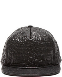Stampd Embossed Lambskin Hat In Black