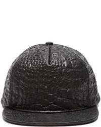 Stampd Embossed Lambskin Hat In Black