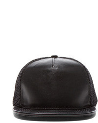 Stampd Lambskin Mesh Back Hat In Black