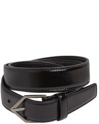 Saint Laurent 25mm Triangle Buckle Leather Belt
