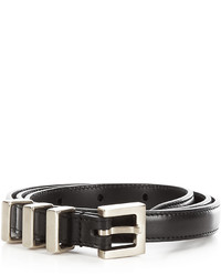 Saint Laurent 3 Passants Leather Belt