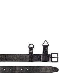 DSQUARED2 30mm Military Leather Belt W Webbing