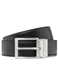 Tod's 35cm Black And Midnight Blue Reversible Full Grain Leather Belt