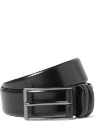 Hugo Boss 35cm Black Carmello Leather Belt