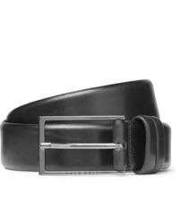 Hugo Boss 35cm Black Carmello Leather Belt