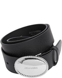 Dsquared2 35mm Leather Belt W Logo Buckle