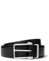 Alexander McQueen 3cm Black Leather Belt