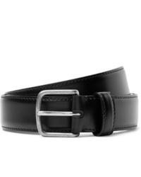 The Row 3cm Black Polished Leather Belt