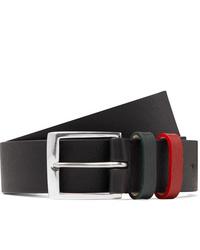 Paul Smith 3cm Black Textured Leather Belt