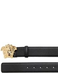 Versace 40mm Medusa Buckle Tumbled Leather Belt