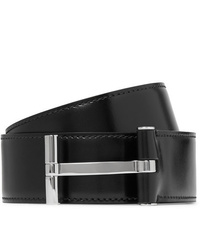 Tom Ford 4cm Black Leather Belt